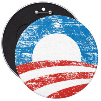 Faded Obama Logo 6 Cm Round Badge