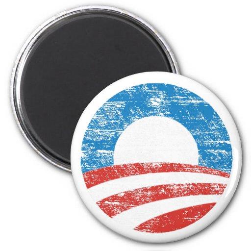 Faded Obama Logo Refrigerator Magnets