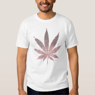 Faded Out Pot Leaf Tee Shirt