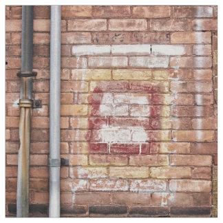 faded paint brick wall fabric