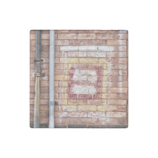 faded paint brick wall stone magnet