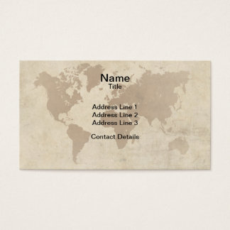 Faded Parchment World Map