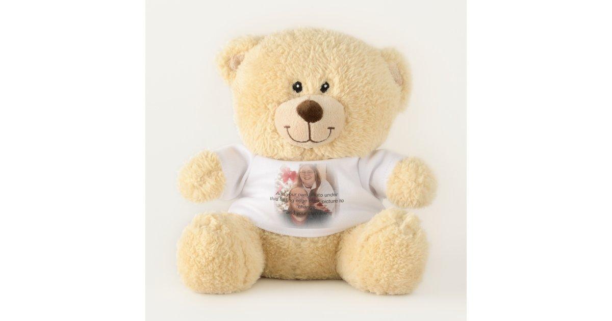 faded photo frame teddy bear | Zazzle.co.uk