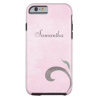 Faded Pink Flourish iPhone 6 case Tough Case Tough iPhone 6 Case