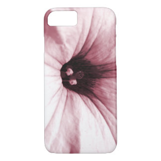 Faded  pink flower macro picture iPhone 7 case