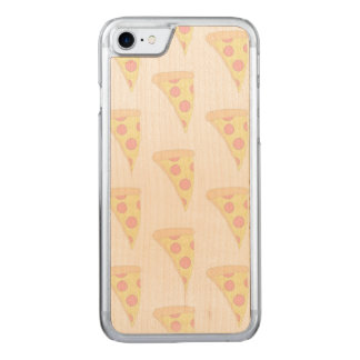 FADED PIZZA iPhone 6/6s Slim Maple Wood Carved iPhone 8/7 Case