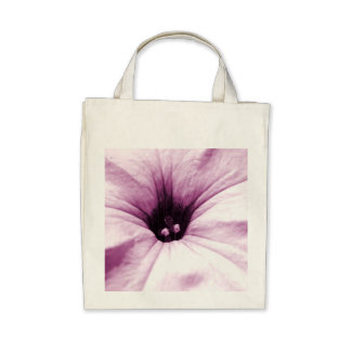 Faded purple flower macro picture tote bag