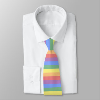 Faded Rainbow Flag Horizontal Stripe LGBT Pride Tie