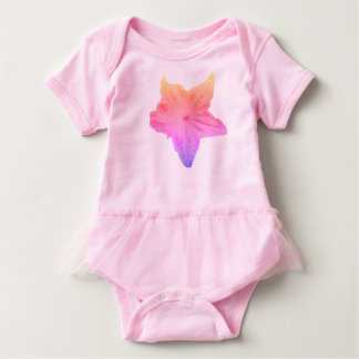 Faded Rainbow Flower on a Pink Tutu Bodysuit