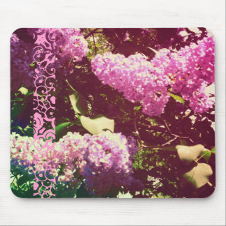 Faded Rainbow Lilacs Mouse Pad