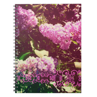 Faded Rainbow Lilacs Spiral Note Book