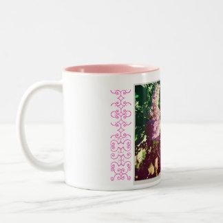 Faded Rainbow Lilacs Two-Tone Mug