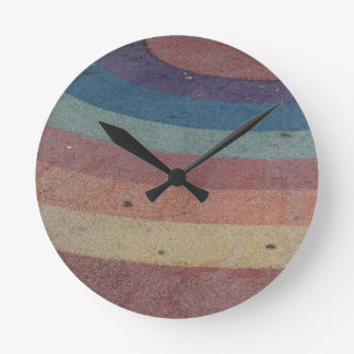 Faded Rainbow Range Clock