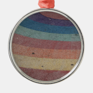 Faded Rainbow Range Silver-Colored Round Decoration