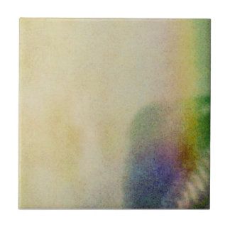Faded Rainbow Small Square Tile