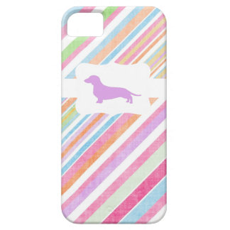 Faded Rainbow w/Dachshund iPhone 5 Cover