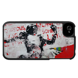 Faded Red and White Graffiti with African Stencil iPhone 4 Covers