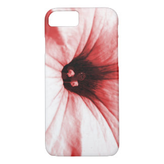 Faded red flower macro picture iPhone 7 case