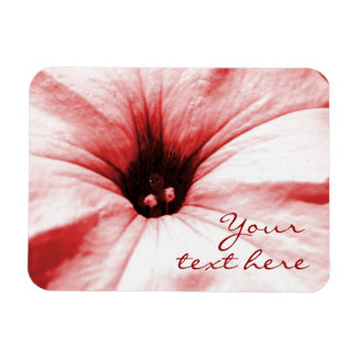 Faded red flower macro picture rectangle magnets
