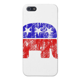 Faded Republican Elephant Case For The iPhone 5