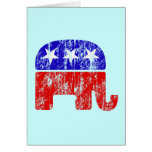 Faded Republican Elephant Greeting Cards