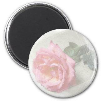 faded rose 6 cm round magnet