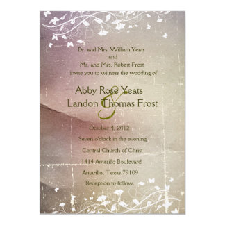 Faded Rose Parchment Wedding Invitation