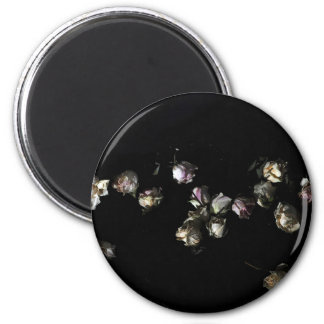 Faded Roses 6 Cm Round Magnet