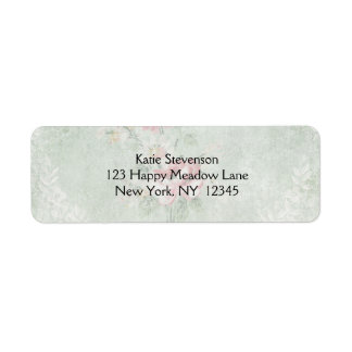 Faded Roses Vintage Design Return Address Label