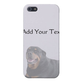 Faded Rottweiler Laying Down on Grey iPhone 5/5S Case