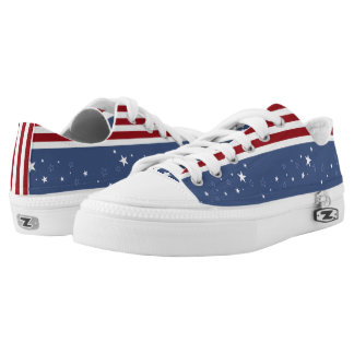 Faded Stars and Stripes Printed Shoes