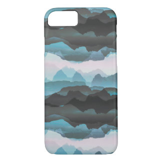 Faded stylised blue mountains iPhone 8/7 case
