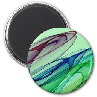 Faded Swirls 6 Cm Round Magnet