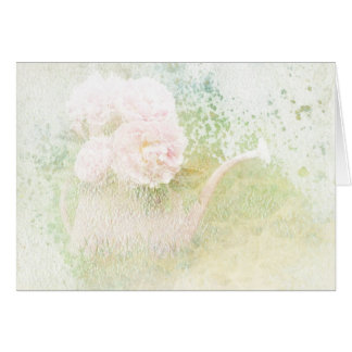 Faded Textures Peony Bouquet Greeting Card