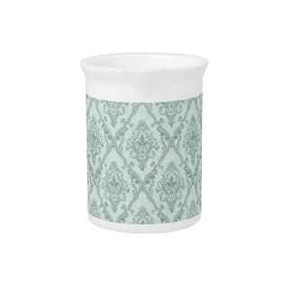 Faded vintage damask pattern pitcher