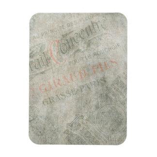 Faded Vintage Paper Parisian Advertisement Collage Vinyl Magnets