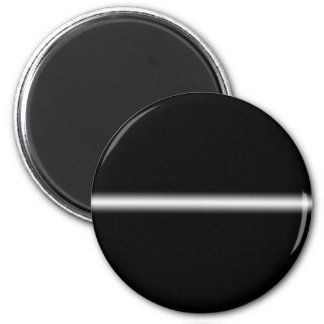 Faded White Stripe on Black 6 Cm Round Magnet