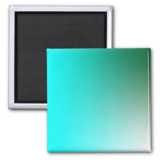 Fades: Dark Green and Light Blue Square Magnet