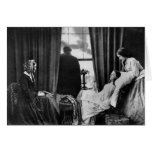 Fading Away ~  Waiting For Death Vintage Daguerre Greeting Card