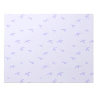 Fading Blue Birds Notepad