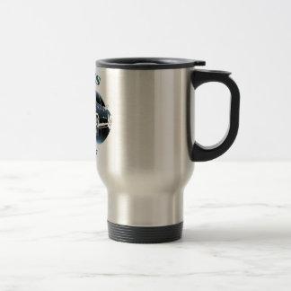 Fading Blue Logo Travel Mug