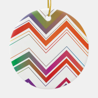 Fading Chevron Mountains.jpg Christmas Ornament