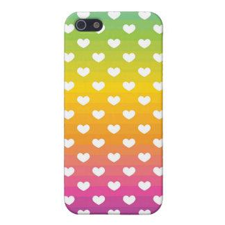 fading rainbow hearts pattern iPhone 5 case