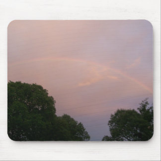Fading rainbow in the sky mouse pad
