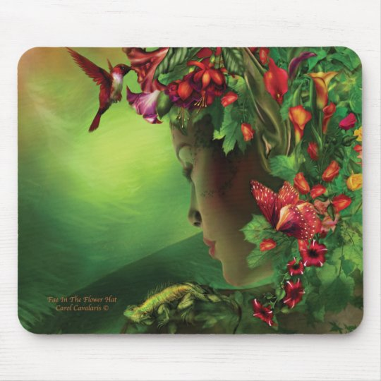 Fae In The Flower Hat Mousepad