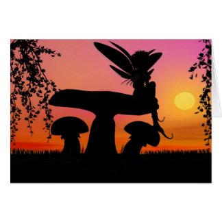 Fae Sunset Greeting Card