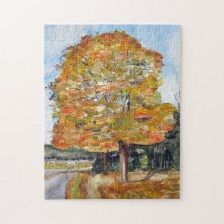 Fælledparken puzzle in autumn