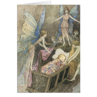 Faerie Blessings on your new Baby Greeting Card