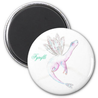 Faerie dragon 6 cm round magnet