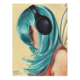 Faerie Funk #3 Postcard Headphone Faerie Postcard